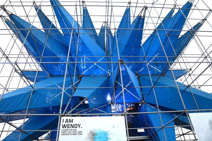 HWKN's Spiky Air-Scrubbing Wendy Pavilion Debuts in Abu Dhabi