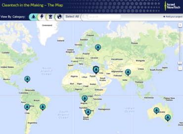 New Clean Tech Map Reveals Israel's Global Green Influence