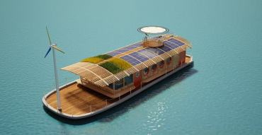 Egypt's Green-Roofed Bio Boat Entirely Wind and Solar Powered