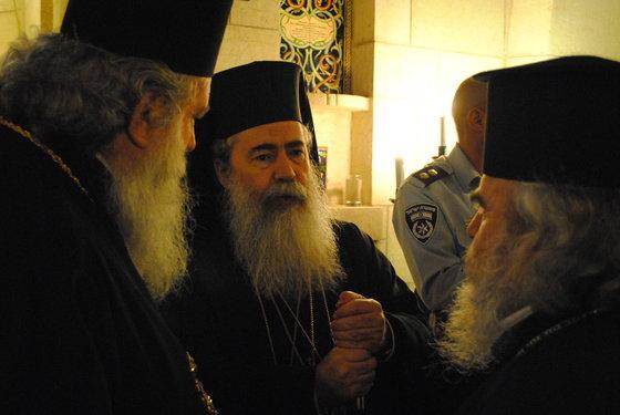 greek orthodox priests green pilgrimage