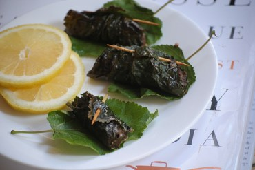 Stuffed Mulberry Leaves With Chicken Recipe