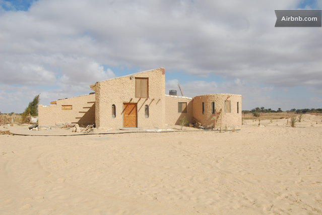 Thank AirBnb for the Round Freedom Farm House in Egypt