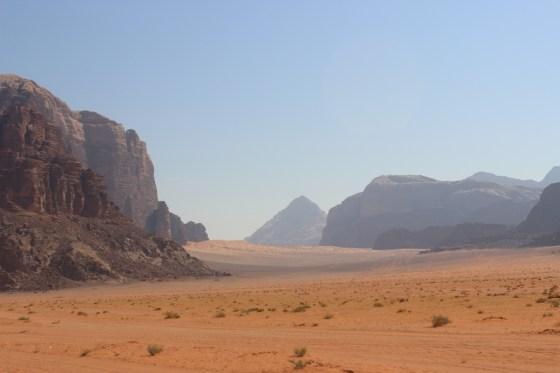 Natural pyramid Jordan Red Desert wadi rum
