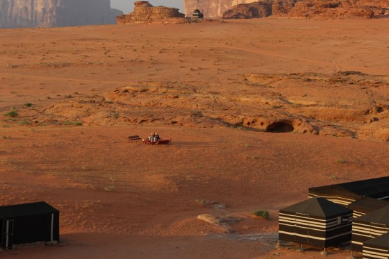 Sunset Viewing Jordan Red Desert wadi rum