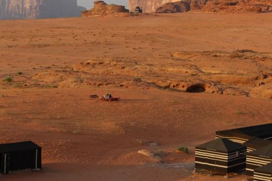 Sunset Viewing Jordan Red Desert wadi rum