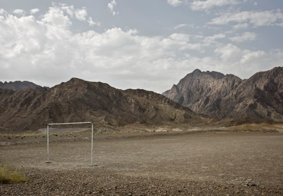 Dick Sweeney, desert, football, Arab football, Arab Soccer, Qatar, 2022 World Cup, photography, art, environmental art