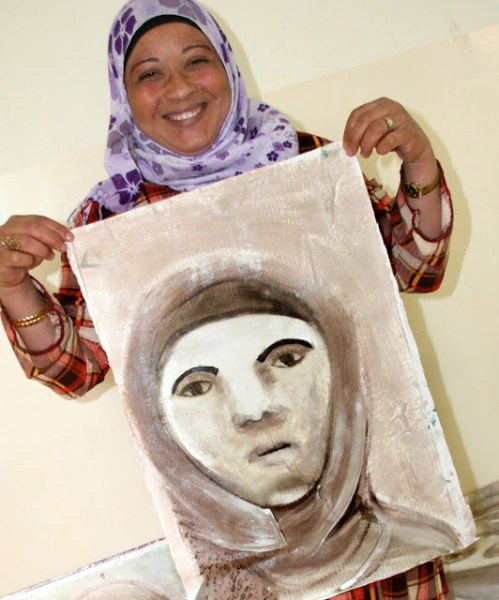 Safi women artists, Jean Bradbury in Safi, Dead Sea jordan