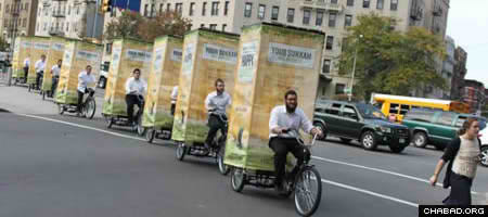 Israeli Teenager Designs Mobile Pedi-Sukkah on a Tricycle