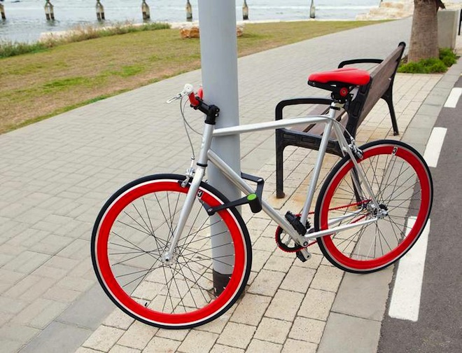 Fashionable Foldylock Keeps Tel Aviv Bicycle Thieves at Bay