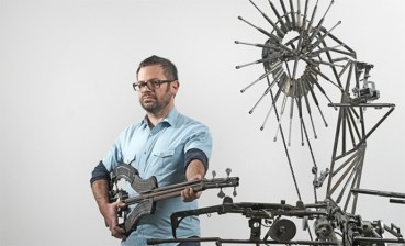 Pedro Reyes' Disarm Morphs Weapons Into A Mechanized Orchestra