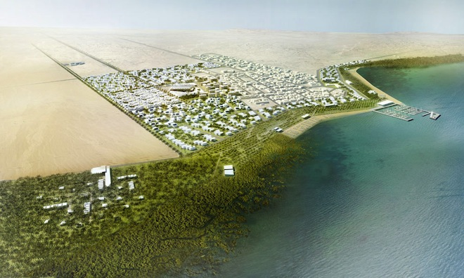 Qatari coastal city to double in size but won't kill the mangroves (photos)