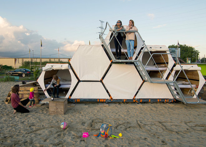 Would stackable B-and-Bee festival shelters work for refugees as well?