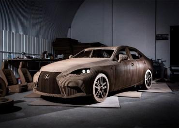 Lexus built a cardboard car that actually drives!