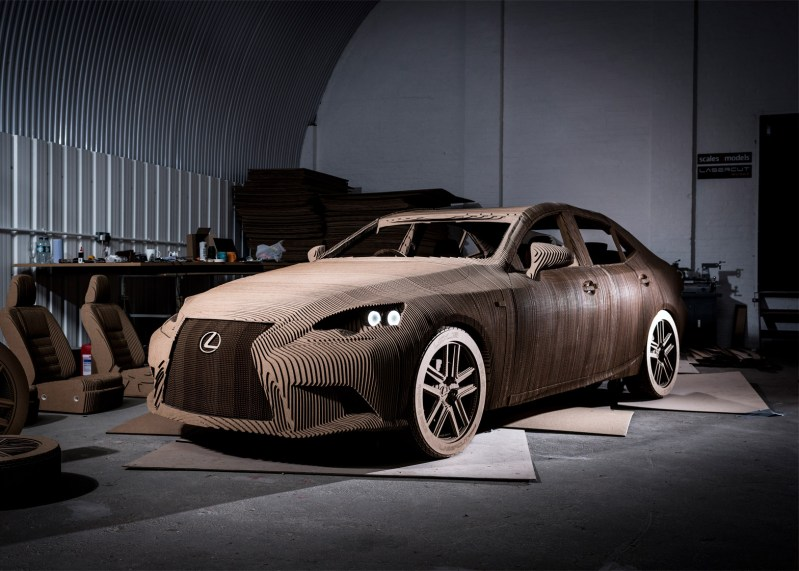Lexus built a cardboard car that actually drives!