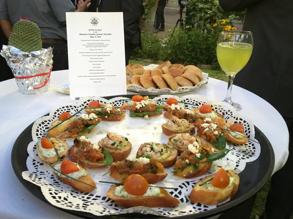 Gaza produce on the menu at swanky American event in Jerusalem