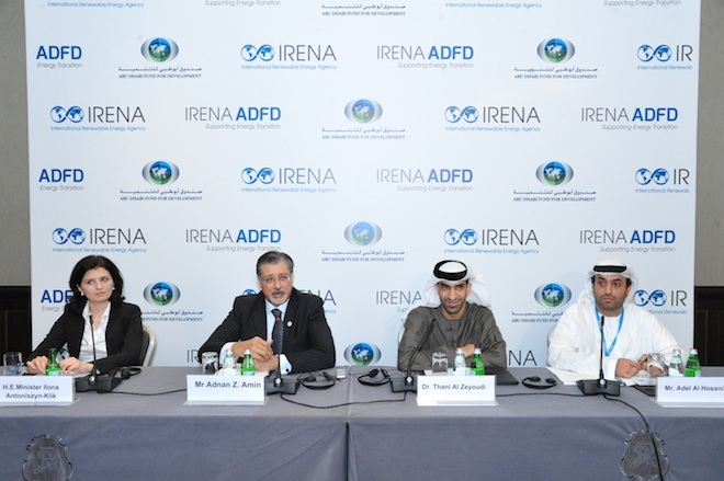 IRENA, Abu Dhabi Fund for Development, clean tech, renewable energy, clean tech financing, Abu Dhabi Sustainability Week, World Future Energy Summit