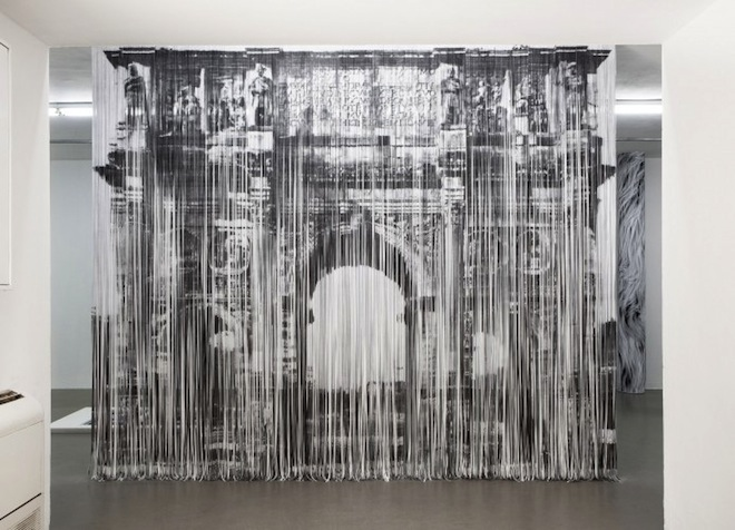 Hundreds of Xerox Paper Strips Make Extraordinary Recycled Curtains