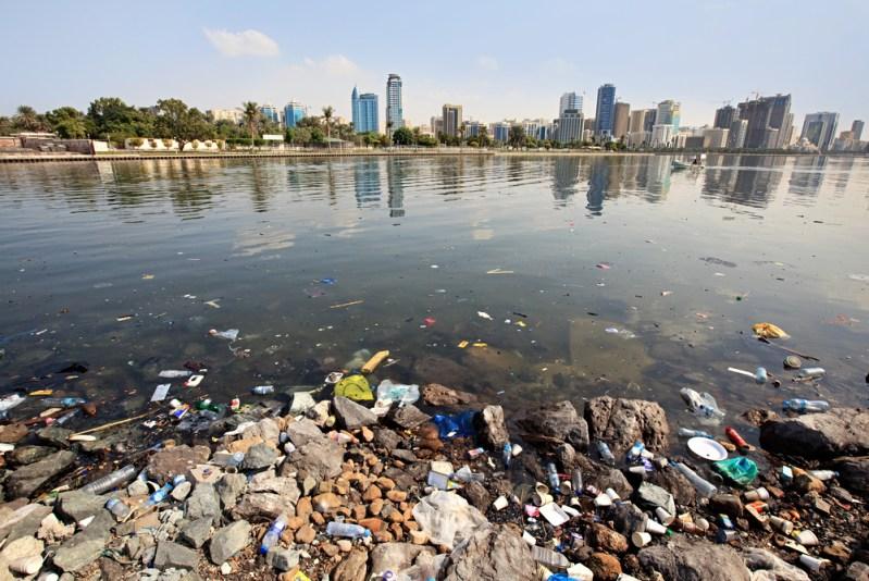 Solar-battery eco-boats clean up stinky Sharjah lagoons