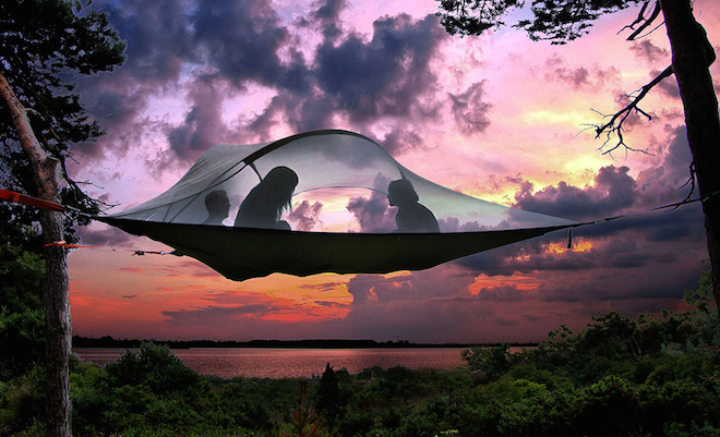 Tentsile tents are suspended tree houses you can carry anywhere