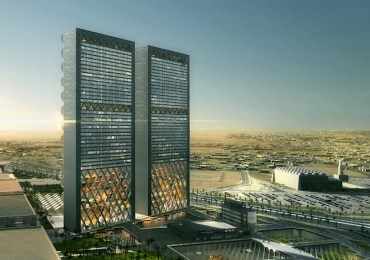 Retractable Mashrabiya sunscreens for secret Middle East media towers project