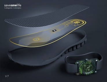 SaveOneLife boot sole detects land mines within a 6.5 foot radius