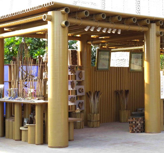 Shigeru Ban, Cardboard Pavilion, Abu Dhabi, Saadiyat, Design Souq, Abu Dhabi Art Festival, green building materials, cardboard pavilion in Abu Dhabi, Japanese design, green design, sustainable design
