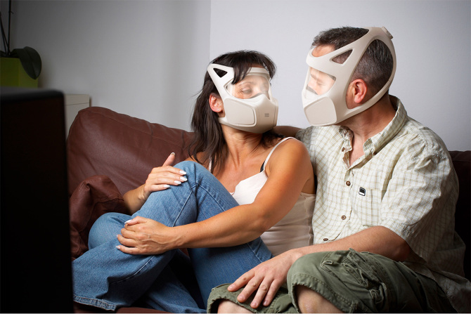 Social gas mask: because why let chemical warfare get in your way?