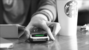 Israeli tech brings wireless phone charging to Starbucks