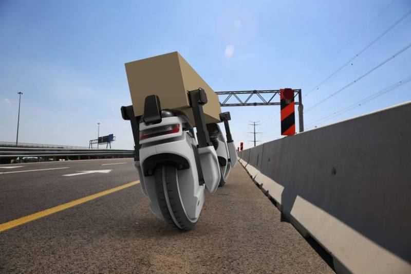 Will robotic wheels replace drones for future home deliveries?