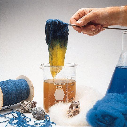 dyeing wool techelet