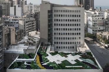 Beirut bank gets Lebanon's largest rooftop garden by GreenStudios
