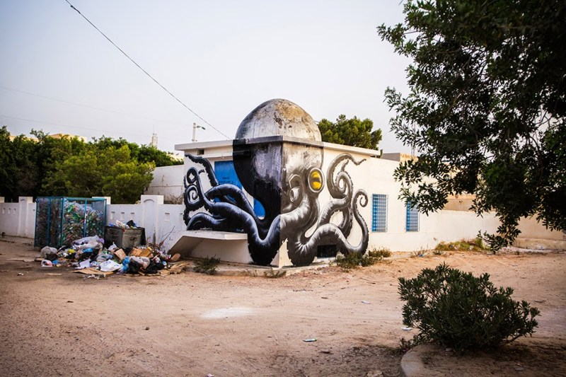 Old domed Arabian architecture transformed into playful murals
