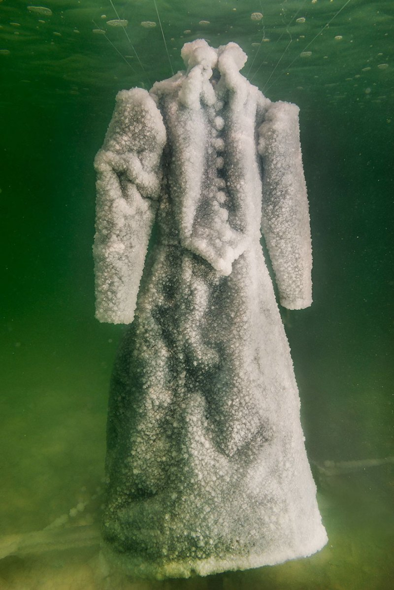 Israeli artist raises a ghostly bride from the Dead Sea