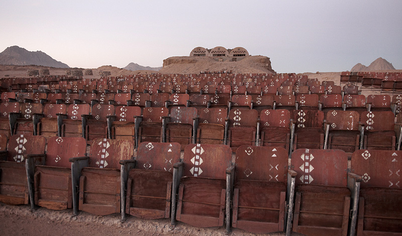 Egypt's ghostly abandoned theater – litter writ large