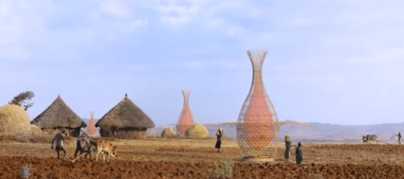 Warka Water towers pull drinking water out of thin air