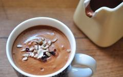 cup of nut butter hot chocolate