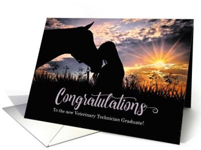 Congratulations to the Vet Tech Graduate Horse in the Fog card