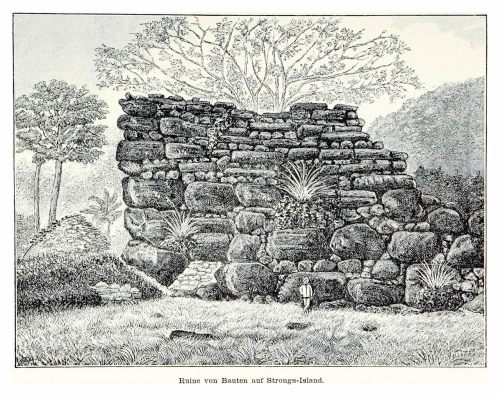 1883 Drawing of Nan Madol from Südsee-Erinnerungen (1875-1880) by Franz Hernsheim - The Mystery of Nan Madol – Greetings from the Past