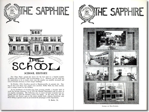 The Sapphire, the Fassifern 1921 Yearbook