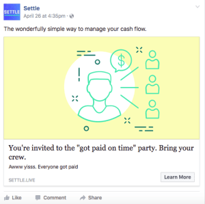 FB Ad - Got paid party