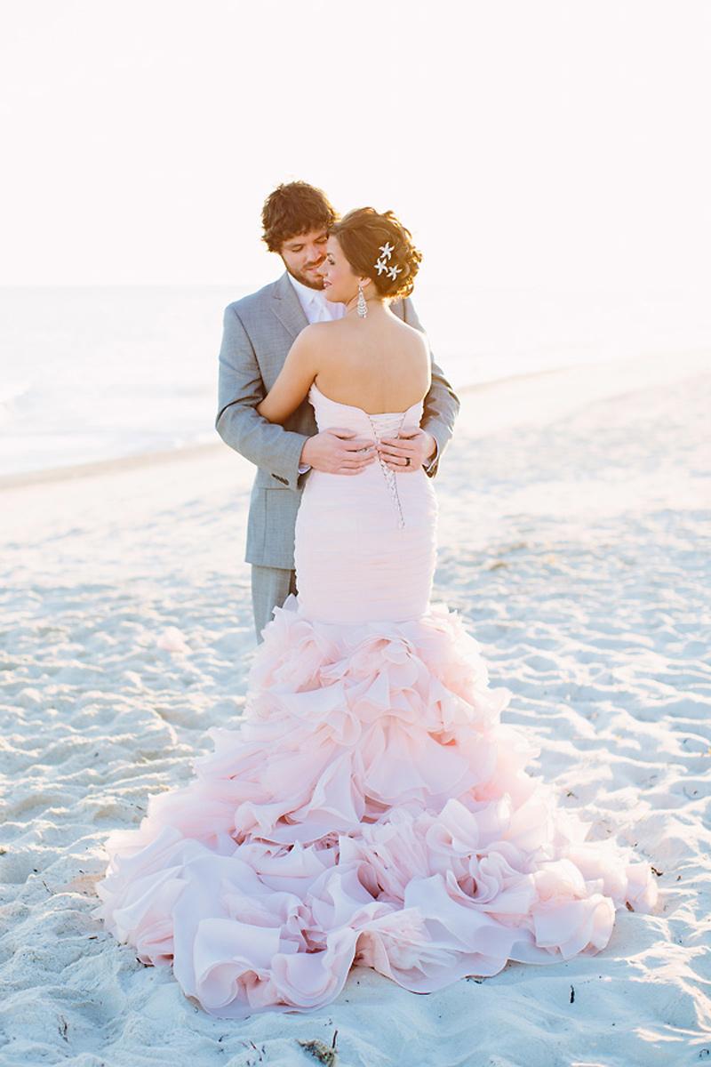 blush wedding dress on the beac gray dresses for wedding Blush Wedding Dress on the Beach