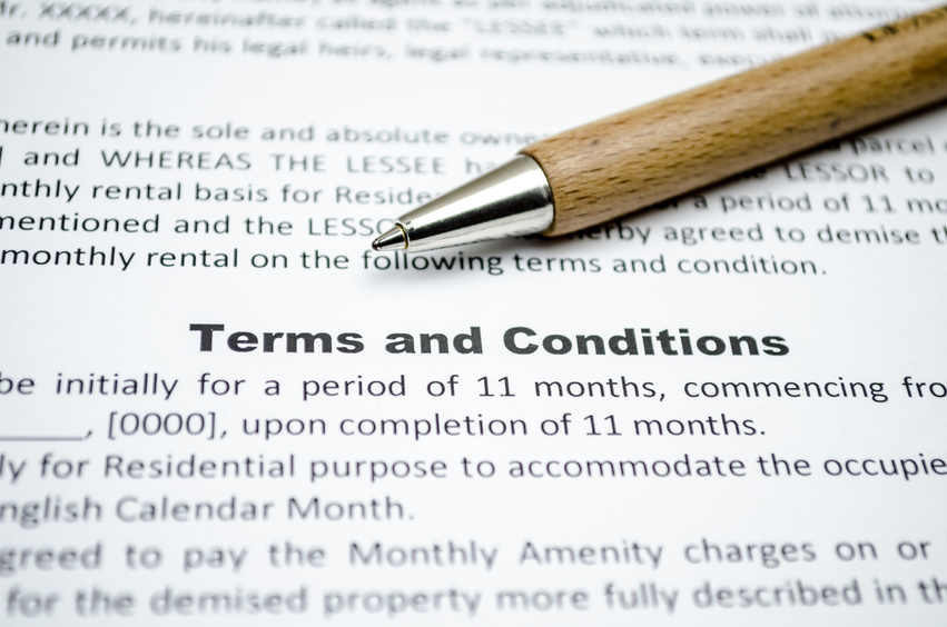 Standard terms and conditions of business