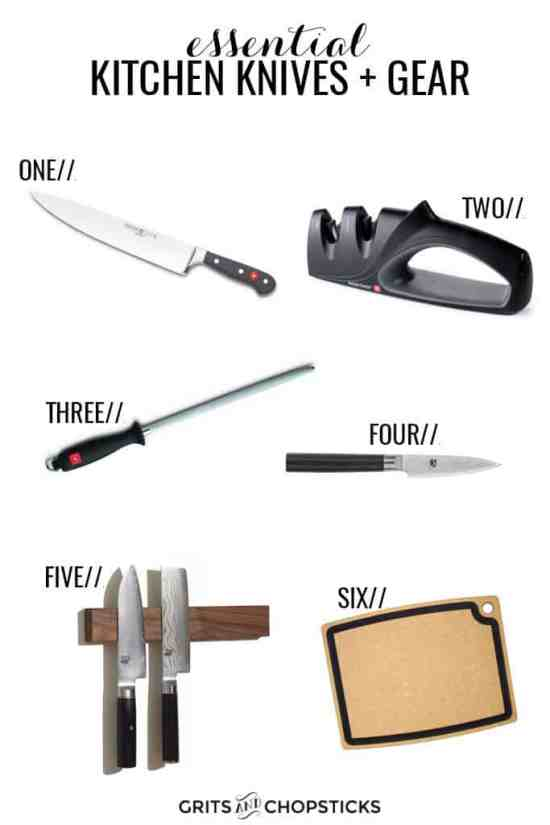 Essential Kitchen Knives and Gear