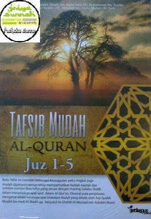 Cover Buku Tafsir Mudah Al Quran Juz 1 – 5 Terjemah At Tafsir Al Muyassar & Ash Shahih Al Musnad Fi Asbabin Nuzul Toobagus Publishing