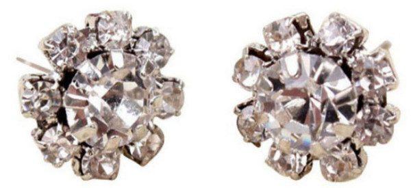 Crystal Flower Stud Earrings Only $2.05 SHIPPED!