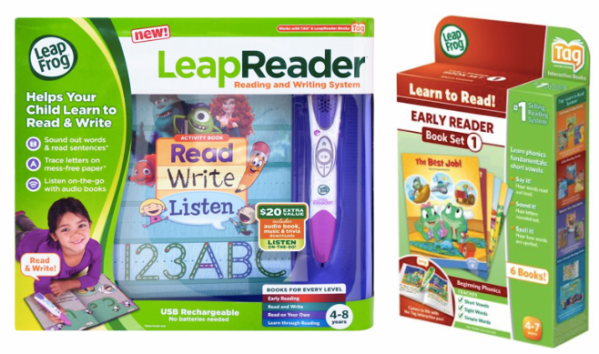 leapfrog reading and writing system + extra books