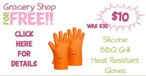 Silicone BBQ Grill Heat Resistant Gloves Just $10!  (Reg. $30!)