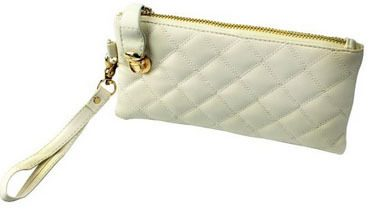 White Leather Wristlet Only $4.59 SHIPPED!