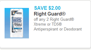 Right Guard Xtreme Deodorant coupon