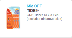 Tide to go Pens coupon